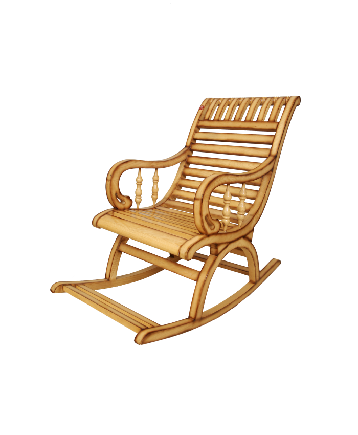 White Ash Natural Comfy Rocking Chair