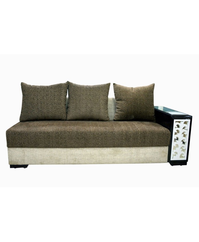 Cushion Colour Combinations: Buy Online Wooden Two Colour L-Shaped Sofa Set With
