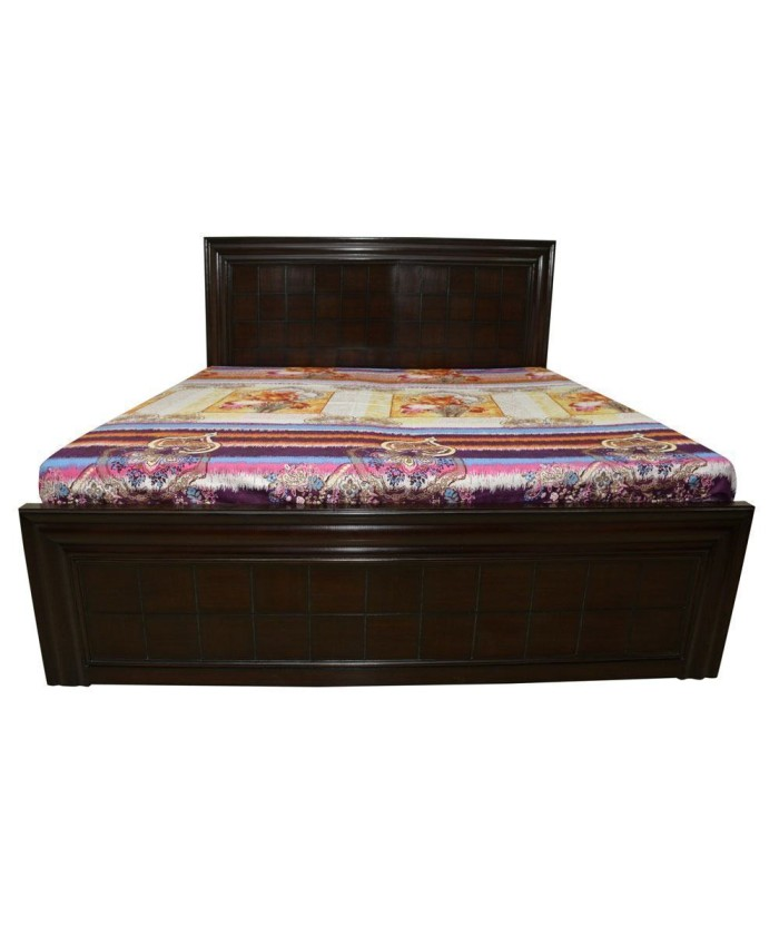 Designer Chocolate Espresso Wooden Double Bed