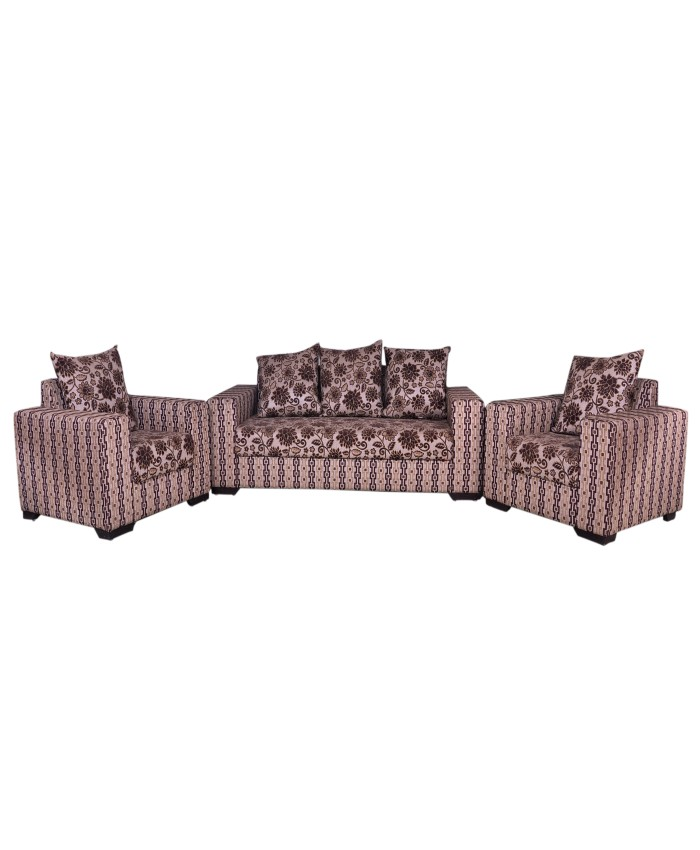 Fully Covered Printed Sofa- Set Of 3+1+1