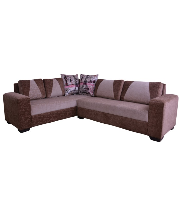 L-Shaped Sofa With Designer Cushions