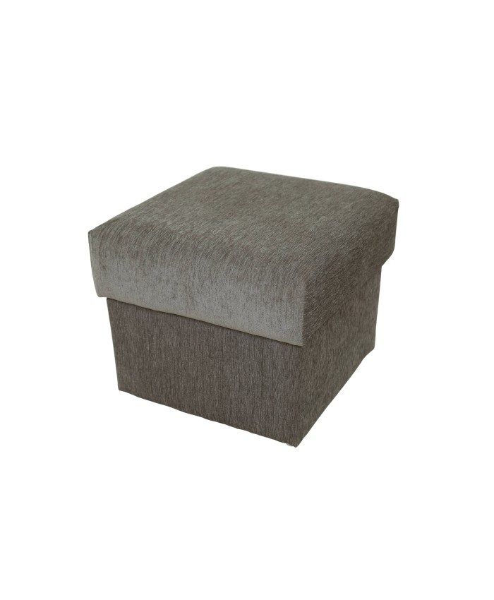 Small Grey Colour Pouf For Living Room