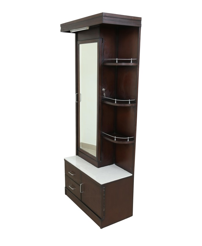 Espresso Dressing Table With Sliding Door