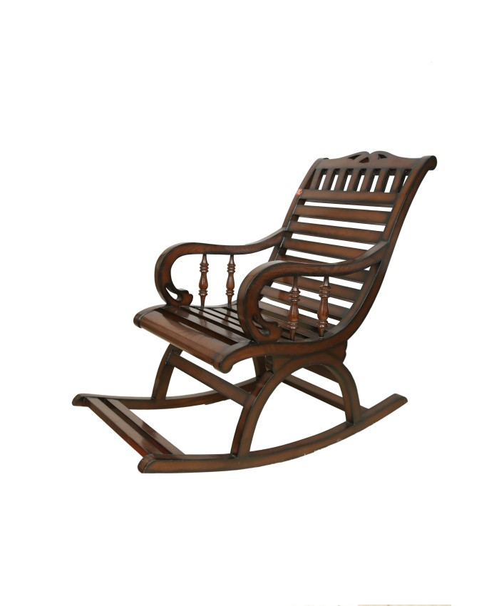 Buy online espresso comfy glider wooden rocking chair