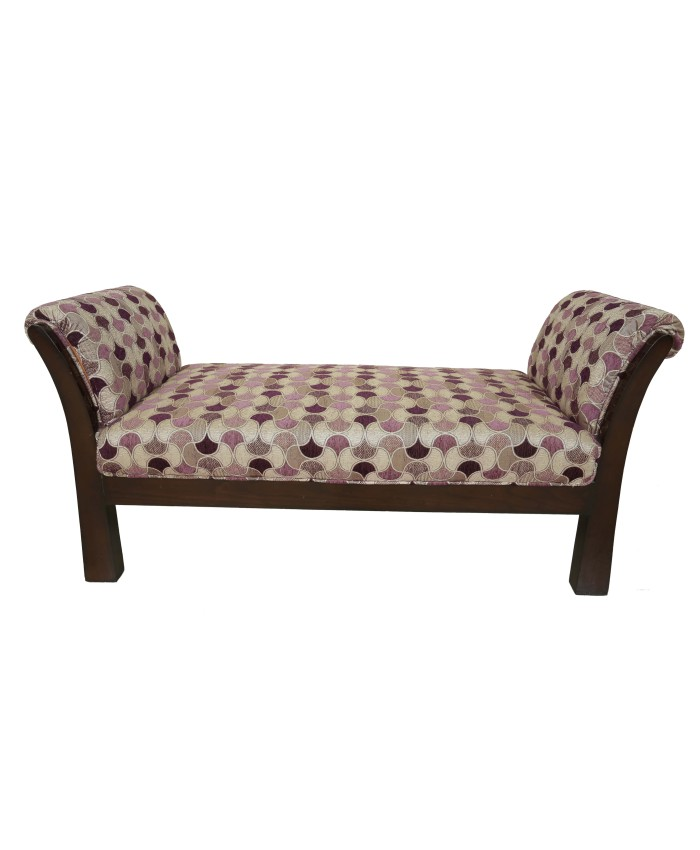 Wooden Purple Adorable Divider Settee With Espresso Wood Colour  For Living Room